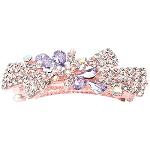 WMDHH Pinza de Pelo con Lazo de Diamantes de imitación de Cristal, Horquilla para el Pelo para Mujeres, niñas, Novias, Damas de Honor, Bodas, Fiestas