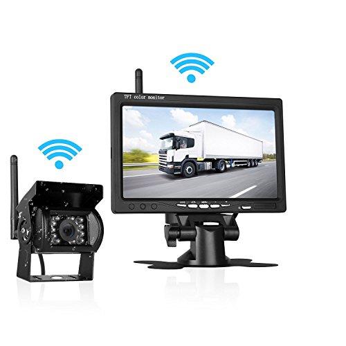 LeeKooLuu Wireless Backup Camera and 7' Monitor Kit For RV/5th...