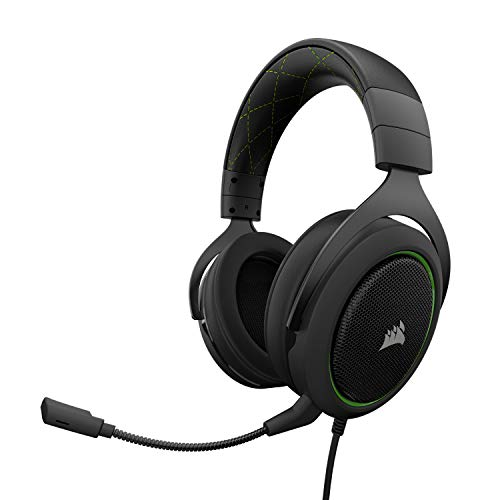 Corsair HS50 STEREO Casque Gaming avec Micro Détachable pour PC/PS4/Xbox/Mobile - Vert
