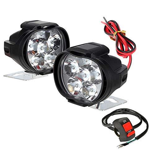 Lecimo 2 STÜCKE Motorrad LED Scheinwerfer, 24 Watt Motorrad Scheinwerfer Super Helligkeit Glide Low Rider Nacht Straße 6 Led-lampe Scheinwerfer