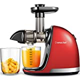 Slow Juicer,AMZCHEF Slow Masticating Juicer Extractor Easy to Clean, Cold Press Juicer with Brush, Juicer with Quiet Motor & Reverse Function, for High Nutrient Fruit & Vegetable Juice