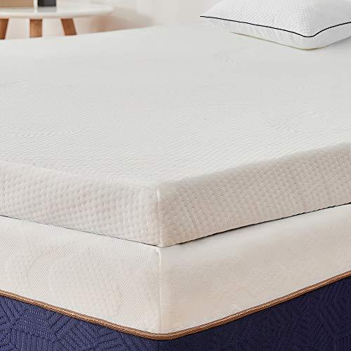 BedStory Colchón Topper de Espuma con Memoria, con Esencia de Lavanda, Cubierta de Microfibra, Topper viscoelástico para Cama, CertiPUR-US Certificado, Diseño ventilado - 150x190x5cm