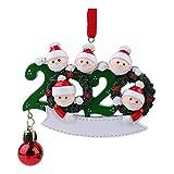 kowaku 2020 Navidad Navidad Adornos Colgantes Cuarentena Familia Santa, Kit Decorativo - 5 Santa, tal como se describe