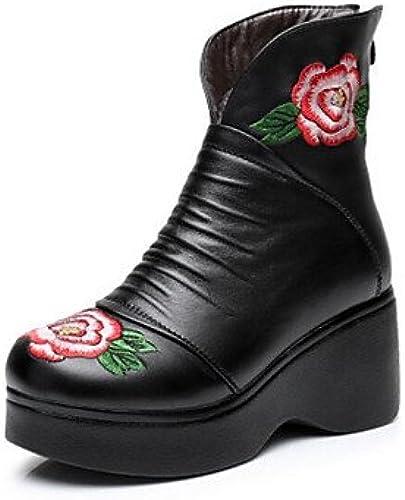 GLL&xuezi Damen Damen Damen Stiefel Komfort PU Herbst Normal Schwarz5 - 7 cm  kreative Produkte