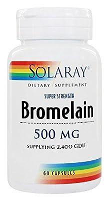 Solaray - Bromelain Extra Strength 500 mg. - 60 Capsules