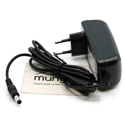 Ladegerät passend für AVM Fritz!Box 2030, 2031, 2070, 2110, 2170, 3020, 3030, 3050, 3070, 3130, 3131, 3170, 3270 Ladekabel Kabel Netzladegerät OTB mit mungoo Displayputztuch