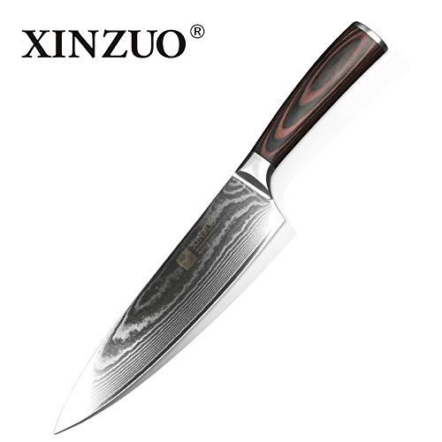 Best Quality Kitchen Knives 8 inch Chef Knives Handmade Japan VG10 Damascus Stainless Steel Kitchen Knife Brand Cook Knives Pakkawood Handle