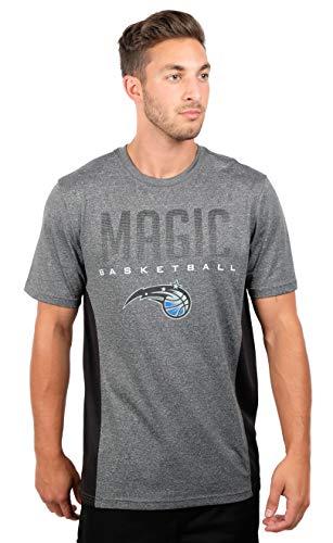 Ultra Game NBA Orlando Magic Mens Active Tee Shirt, Charcoal Heather, Medium