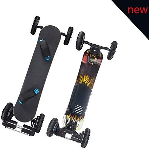 Nfudishpu Offroad Elektro-Skateboard Motorisiertes Mountain Longboard mit All-Terrain-Doppelmotor, 4 Rädern, ferngesteuertem Hochgeschwindigkeits-Board