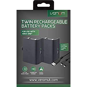 Venom Xbox One Rechargeable Battery Twin Pack - Xbox One - [Edizione: Regno Unito]