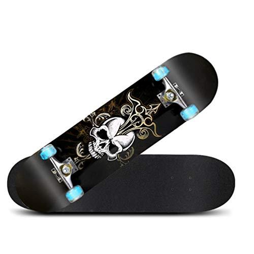 ZO MEBER Skateboard Deck, Erwachsene Kinder Skateboard, Komplettes Board Mit ABEC-9 Lager 8-lagig 92a Hard Maple Deck