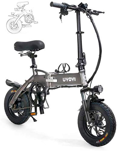 Bicicletta Elettrica, Biciclette for adulti elettrico pieghevole pieghevole bicicletta portatile della lega di alluminio, con LED Luce frontale, tre modalità di guida, freno a disco for adulti Comfort
