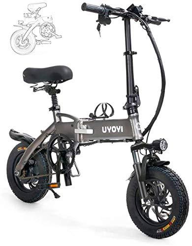Ebike e-bike, Erwachsene Folding Elektro-Bikes faltbare Fahrrad-bewegliche Aluminiumlegierung Rahmen, mit LED-Frontleuchte, Drei Riding Mode, Scheibenbremse for Erwachsene Komfort Fahrräder Hybrid Lie