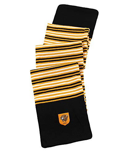 Official HULL CITY FC Amber And Black pin Stripe Scarf very rare design