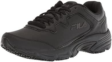 Fila Women's Memory Fresh Start 2 Slip Resistant Work Shoe, 6 B US, black