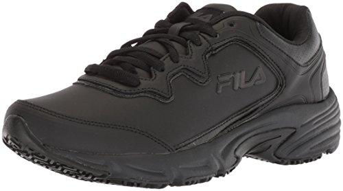 Fila womens Memory Fresh Start 2 Slip Resistant Running Food Service Shoe, Black, 7.5 US