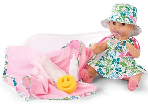 Götz 1953139 Sleepy Aquini Mädchen Puppe - Blooms - 33 cm große Badepuppe mit blauen Schlafaugen, ohne Haare in 12-teiligem Set