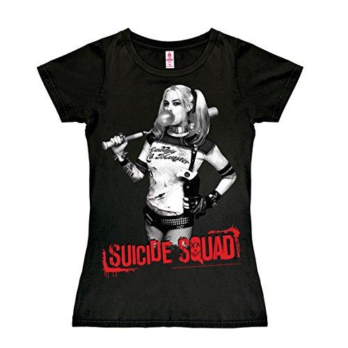 Logoshirt Camiseta para Mujer Harley Quinn - Suicide Squad - DC Comics - Escuadrón Suicida - Negro - Diseño Original con Licencia, Talla M
