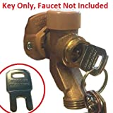 Outdoor Water Faucet Child Lockout Key for Garden Hose Spigot, Keeps Kids Out (for Woodford Brand Faucets Only)