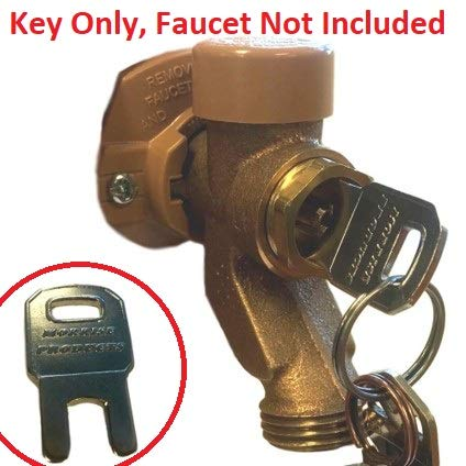 Outdoor Water Faucet Child Lockout Key for Garden Hose Spigot, Keeps Kids Out