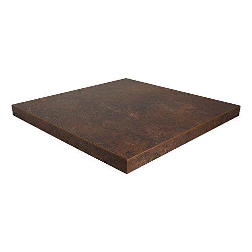 Dekorspanplatte Keramik rost Spanplatte als Tischplatte, Schreibtischplatte, Laden- & Möbelbau, Maße: 100 x 100 cm, Stärke: 28 mm