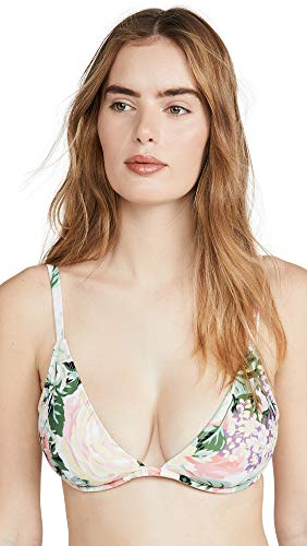 Faithfull The Brand Women's Lavande Bikini Top, Venissa Floral Print, X-Small