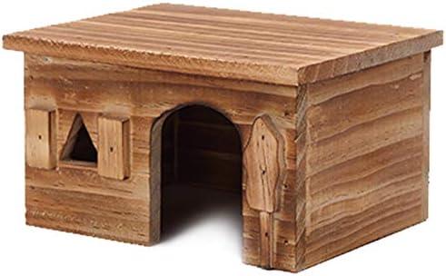 Kaxofang Natural Wood Rectangle Small House B sale Hamster Pet Animal Fees free!!