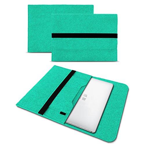 UC-Express Sleeve Hülle kompatibel für Trekstor Primebook C13 / P14 / P13 / P14B Tasche Filz Notebook Cover 13,3-14 Zoll Laptop Hülle, Farben:Mint