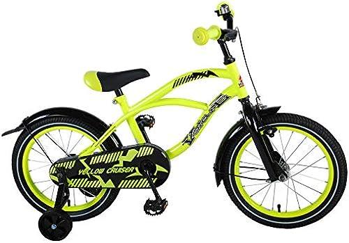 16 Zoll Kinderfürrad Kinder mädchen Jungenfürrad Hollandfürrad Jugend fürrad Bike Rad Unisex Beach Cruiser Volare Gelb
