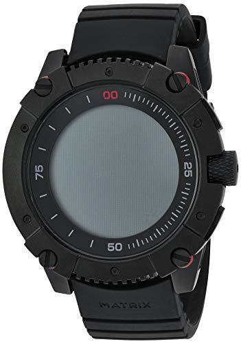 MATRIX Industries PowerWatch, Batterie durch Körperwärme, Wasserdichte Smartwatch, Sport Uhr, kein Akku, Intelligentes Fitness Armband, Schlaf-Tracker, Schrittz und Kalorienzähler, Schwarz
