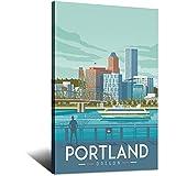 RMLKS Vintage-Reise-Poster Portland-Raum, dekoratives