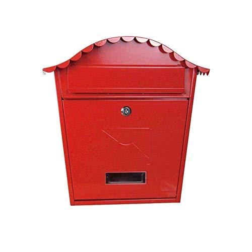 Bericht Brievenbus for Mailbox Antraciet wand gemonteerde cilinderslot Classic Premium Mailbox-rood