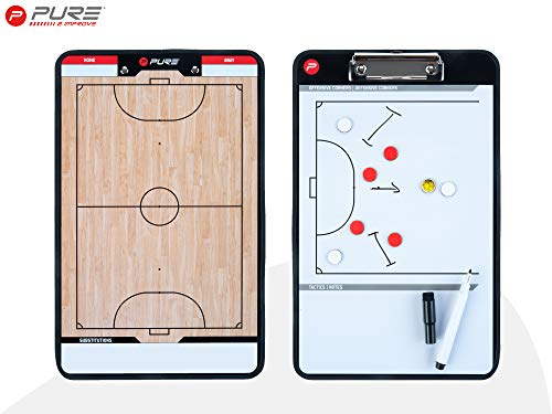 Pure2Improve P2I100650 Tablero de Fútbol Sala, Unisex-Adult, Beige/Blanco/Negro, Talla única