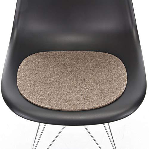 Hey Sign Sitzauflage Taupe mit Antirutsch für Eames Plastic Side Chair