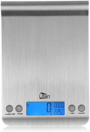 Digital Kitchen Scale Ultra Slim Multifunction Stainless Steel Hook Design Food Scale 11lb 5kg product image