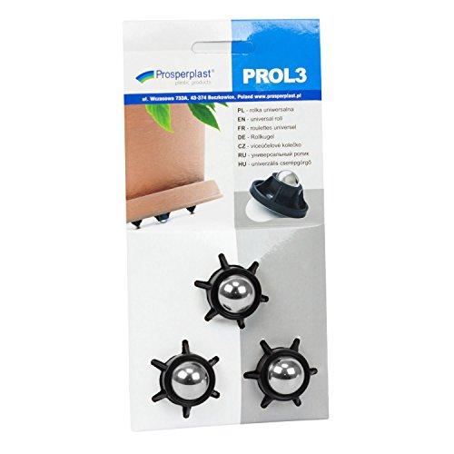 lotex24 Lot de 3 roulettes universelles en Plastique pour Meuble ou Pot de Fleurs