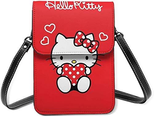 Hello Kitty Red Love Cell Phone Purse Small Crossbody Bag Wallet Shoulder Bag Card Holder Handbag For Women New Year 2021