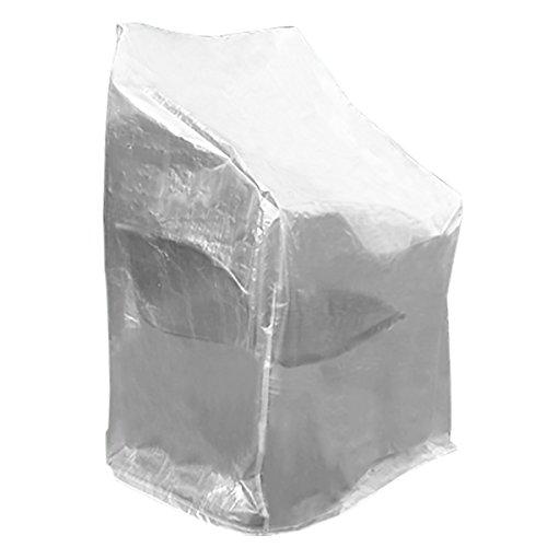 WOLTU GZ1198tp Housse de Protection pour Chaise de Jardin,Housse de Protection mobilier de Jardin Imperméable résistante aux déchirures 68x96x110 / 150 cm, Transparent