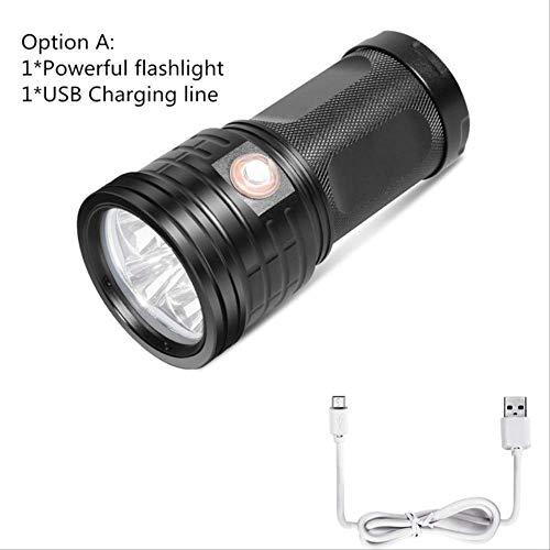La plus puissante 18 * T6 LED torche LED lampe de poche 3 modes de chargement USB Linterna Portable lampe pour le chargement de téléphone Power Bank Option A