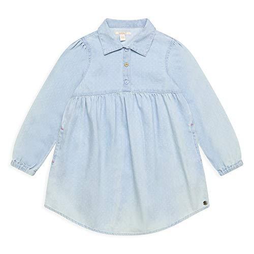 ESPRIT KIDS Mädchen RQ3401301 Dress Kleid, Blau (Light Indigo Denim 415), (Herstellergröße: 116+)