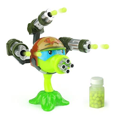 Pflanzen Gegen Zombies Spielzeug 1pcs Interessante Pflanzen Gegen Zombies Anime Figur Modell Spielzeug 15cm Gatling PEA Shooter (3 Kanonen) Hochwertiges Startspielzeug Für Kinder Geschenk