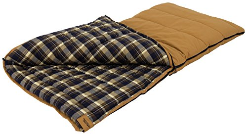 ALPS OutdoorZ Redwood -25 Degree Flannel Sleeping Bag, Tan, 38 - x 80 -Inch