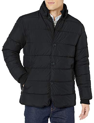 Ben Sherman Herren Puffer Jacket Daunenalternative, Mantel, Blazer Schwarz, X-Large
