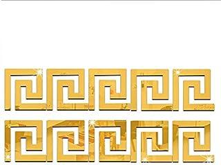 Gold Acrylic Environment-Friendly Acrylic Stereoscopic Mirror Wall Sticker 10pcs