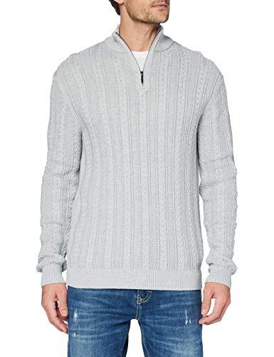 ESPRIT Herren 110EE2I315 Pullover, 044/LIGHT Grey 5, XL