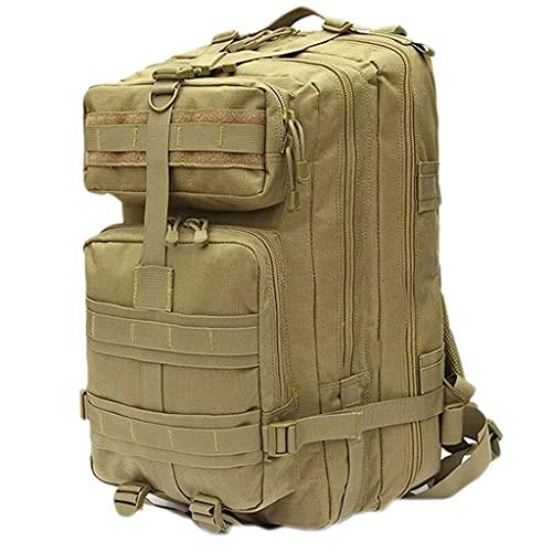 Zaino Sportivo Zaino Militare Portatile, Pack Army 3 Day Assault Pack Zaino, Trekking da Caccia Tattica (Color : Wolf Brown, Size : Small)