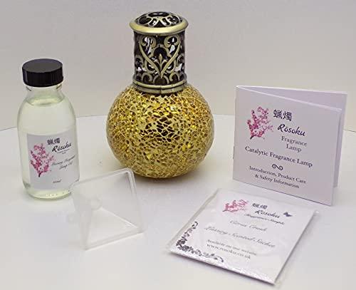 Lámpara de aceite de fragancia catalítica dorada de amapola japonesa