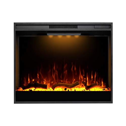 Mystflame Electric Fireplace, 30 Inches Recessed Electric Fireplace Insert, Remote Control Fireplace Insert with Overheat Protection, Electric Fireplace Heater with Adjustable Light