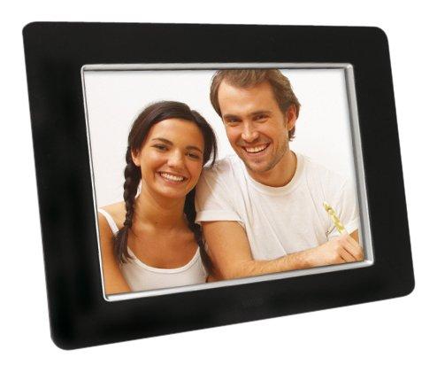 Aiptek Monet Deluxe Digitaler Bilderrahmen (20,3 cm (8 Zoll) Display, SD Karten Slot, Video und Foto Wiedergabe) schwarz