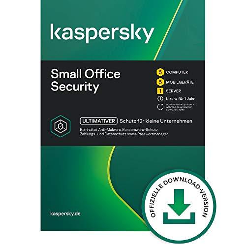 Kaspersky Small Office Security 8 Standard | 5 Geräte 5 Mobil 1 Server | 1 Jahr | Windows/Mac/Android/WinServer | für kleine Unternehmen | Standard | PC/Mac | Aktivierungscode per Email